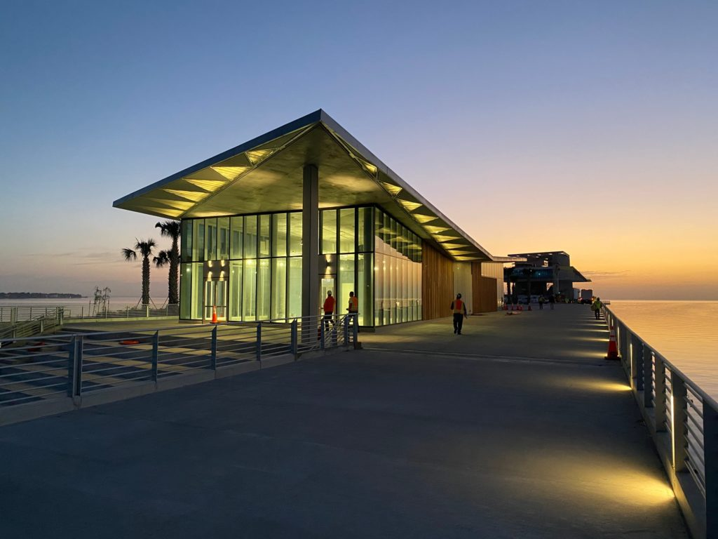 image: discovery center at dawn