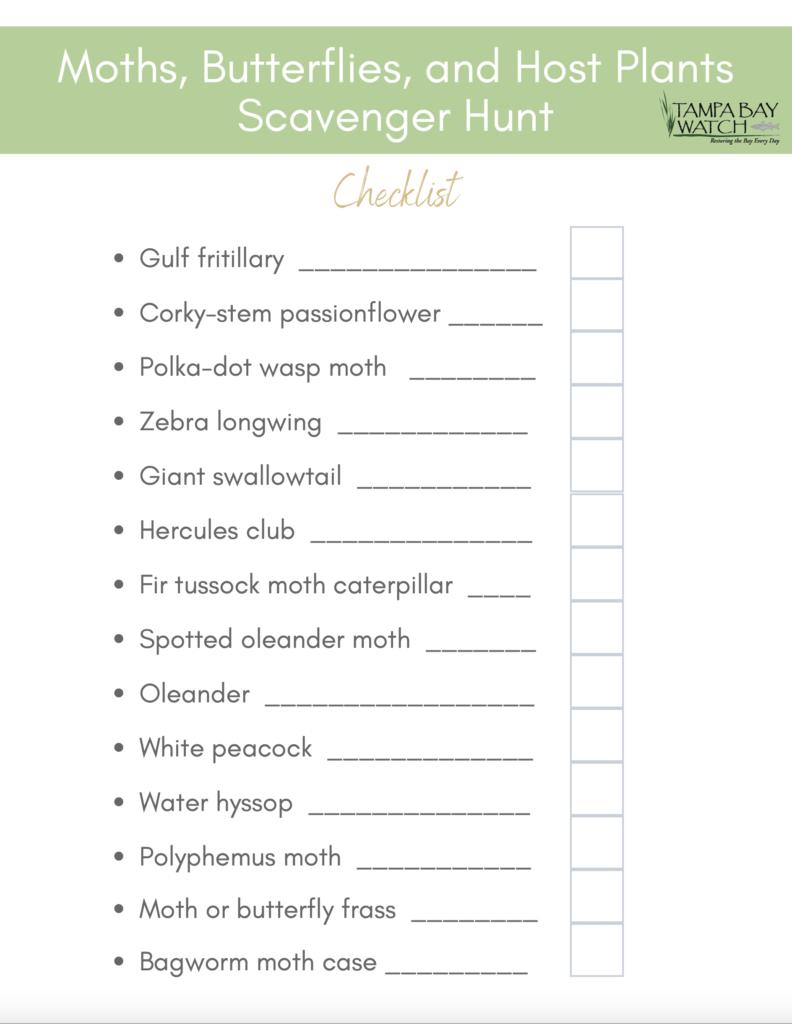 image: scavenger hunt checklist
