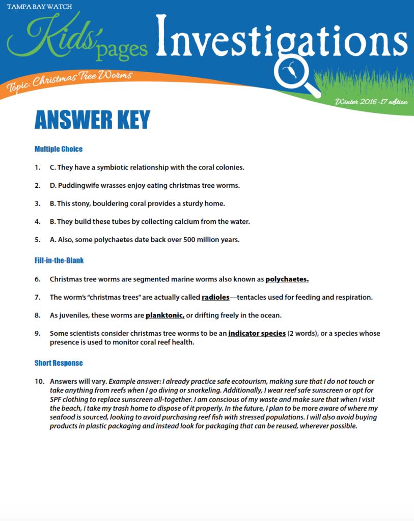 image: KPI answer key
