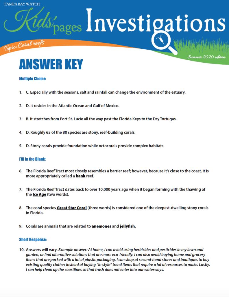 image: KPI answers section